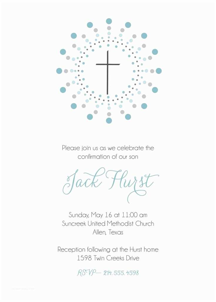 First Communion Invitations for Boys Confirmation Invitation First Munion Invitation