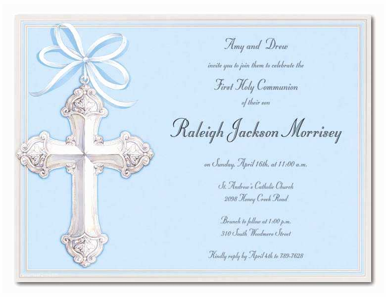 First Communion Invitations for Boys First Holy Munion Invitations