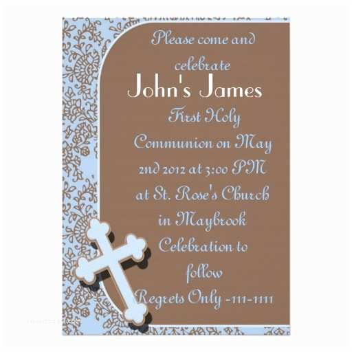 First Communion Invitations for Boys Plants In Nanopics First Holy Munion T for Boys