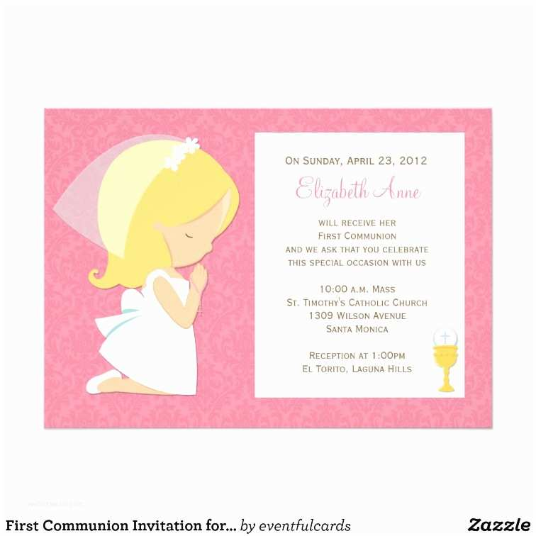 First Communion Invitations for Girls First Munion Invitation for Girl