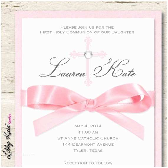 First Communion Invitations for Girls Girl First Munion Invitation Girl Elegant Munion