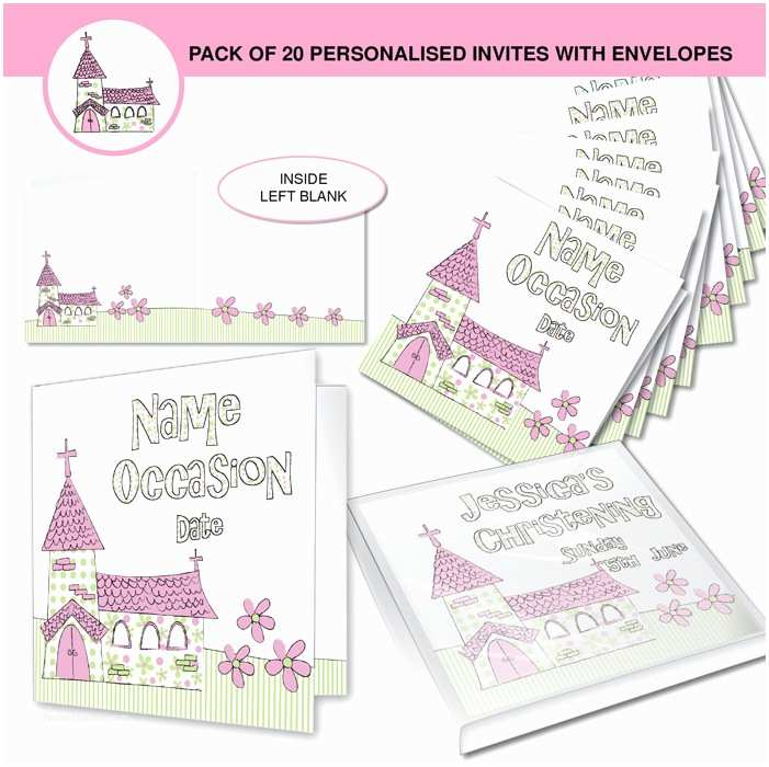 First Communion Invitations for Girls Personalised First Munion Invitations Girls Pink