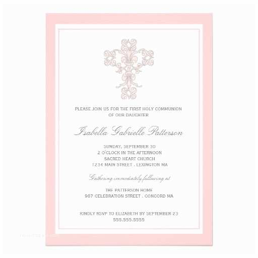 First Communion Invitations for Girls Personalized Catholic Invitations