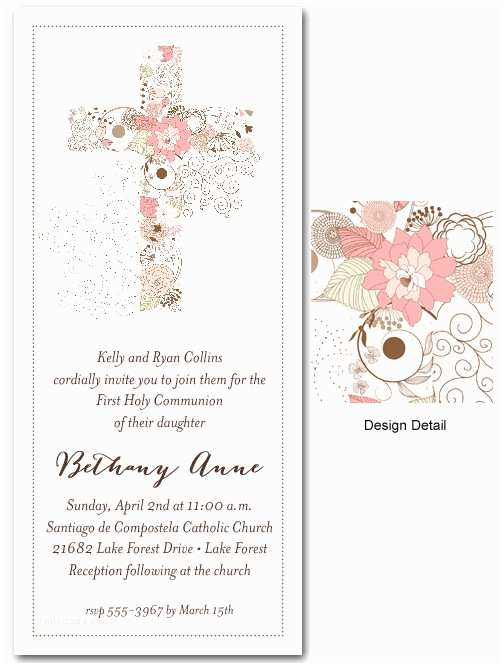 First Communion Invitations For Girls Munion