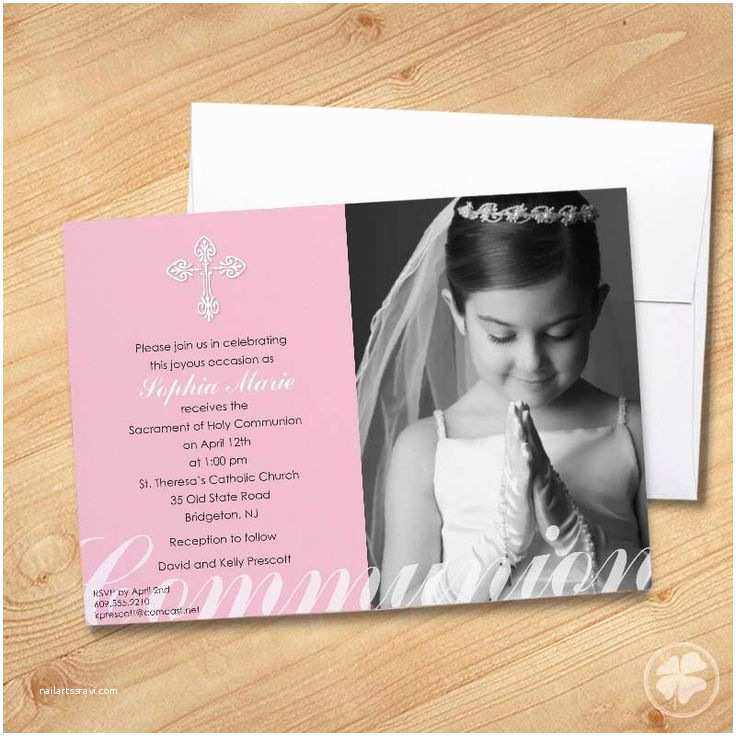 First Holy Communion Invitations 1000 Ideas About Munion Invitations On Pinterest