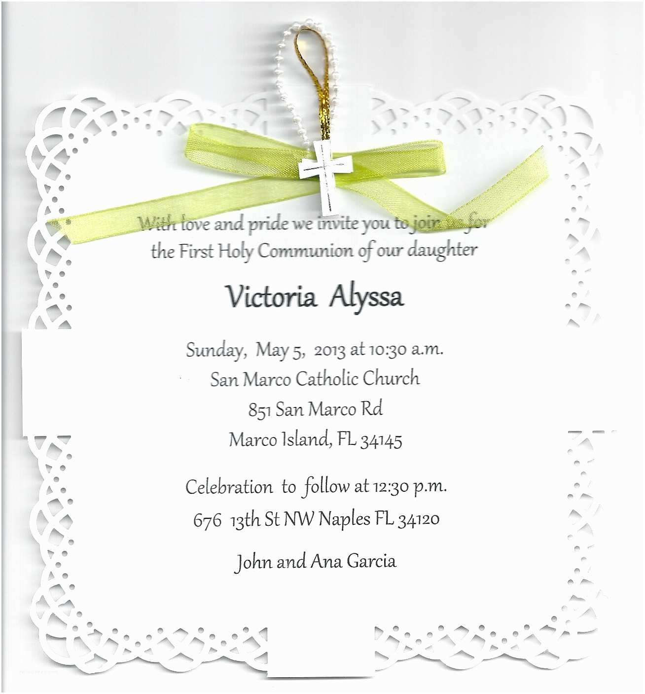 First Holy Communion Invitations First Munion Party Invitations