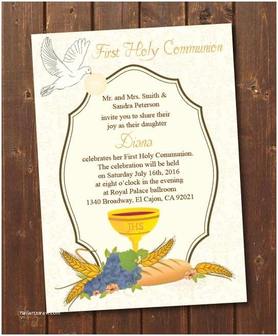 photograph relating to Printable First Communion Invitations identify Initial Communion Invites Printable - Letter