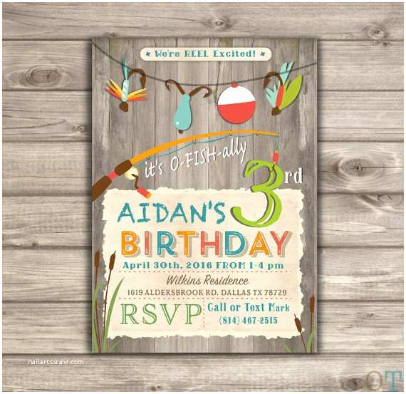 Fishing Birthday Party Invitations Fishing Birthday Invitations We Re Reel Excited Printable