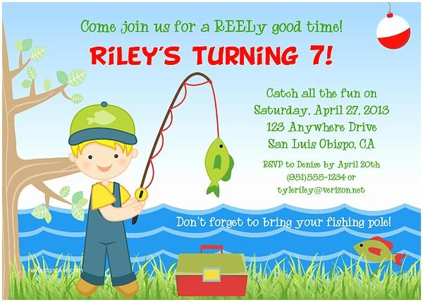 Fishing Birthday Party Invitations Fishing Birthday Party Invitations Fish Ocean Sea
