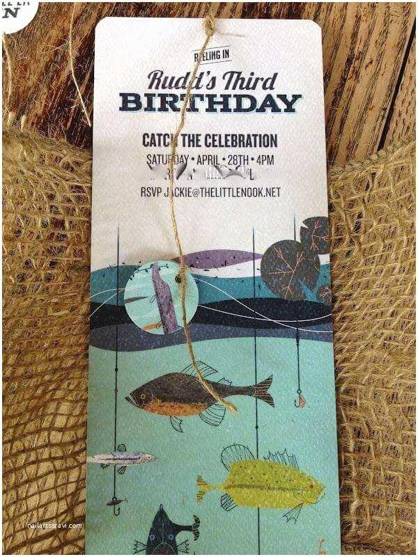 Fishing  Invitations A Boy S Vintage Fishing Themed Birthday