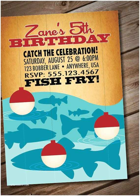 Fishing Party Invitations Diy Printable Retro Fishing Birthday Party Invitation