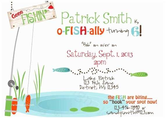 Fishing Party Invitations Fishing Birthday Invitations Ideas – Bagvania