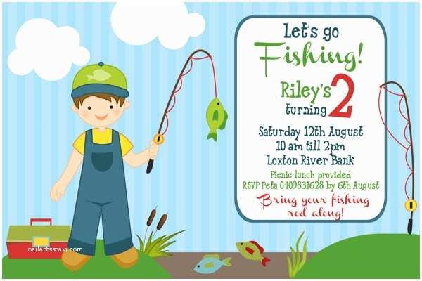 Fishing Party Invitations Fishing Birthday Invitations Ideas – Bagvania Free