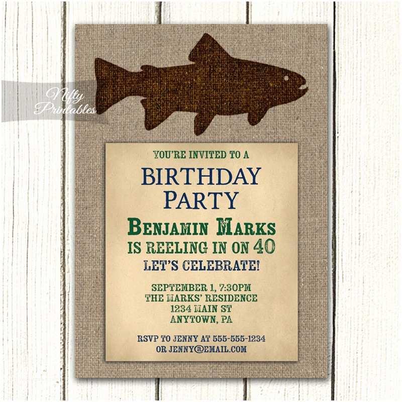 Fishing Party Invitations Fishing Birthday Invitations Nifty Printables