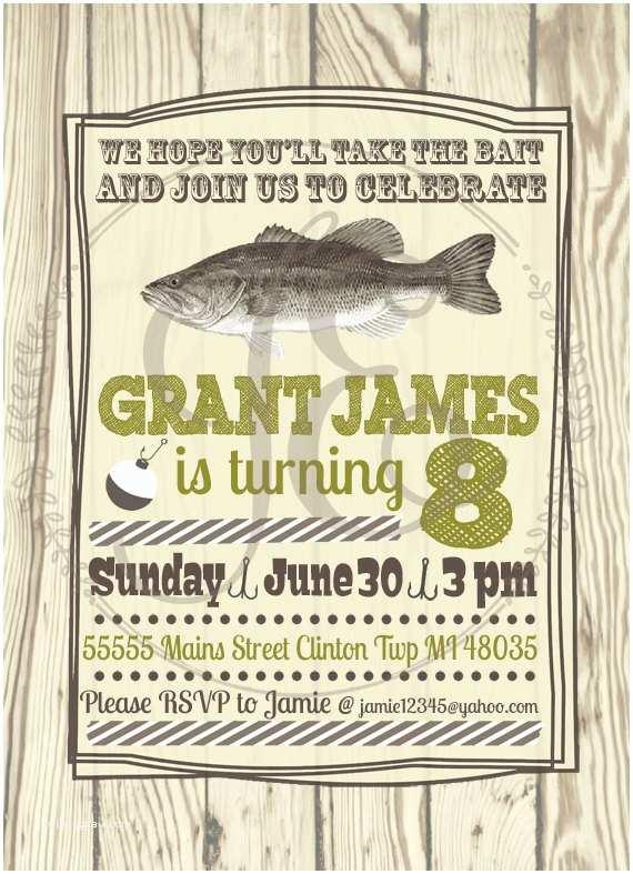 Fishing Party Invitations Fishing Birthday Party Invitation Boys Invite