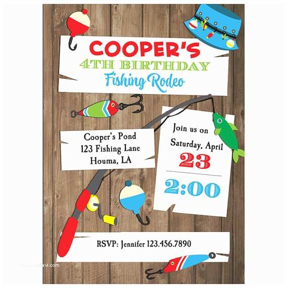 Fishing Party Invitations Fishing Invitation Printable Or Printed With Free