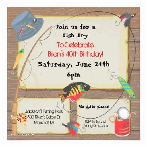 Fishing Party Invitations Fishing Party Invitation