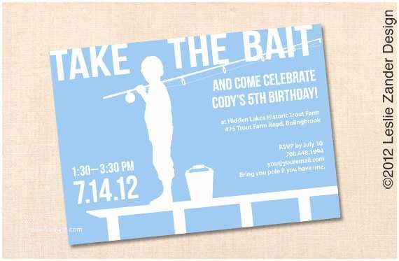 Fishing Party Invitations Fishing Personalized Printable Birthday by Lesliezanderdesign