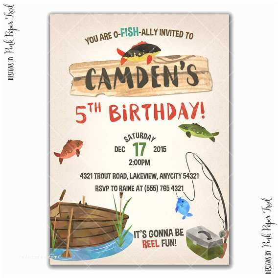 Fishing Party Invitations Gone Fishing Party Invitation Fishing Birthday Party