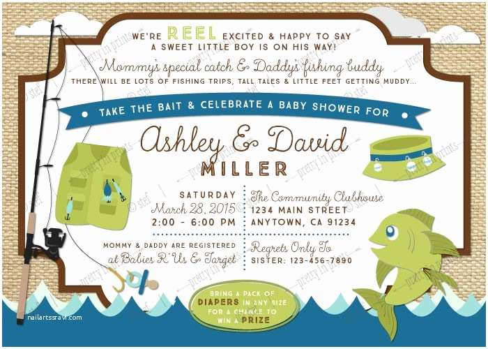 Fishing Party Invitations Invitation For  Shower Beautiful Fishing Themed