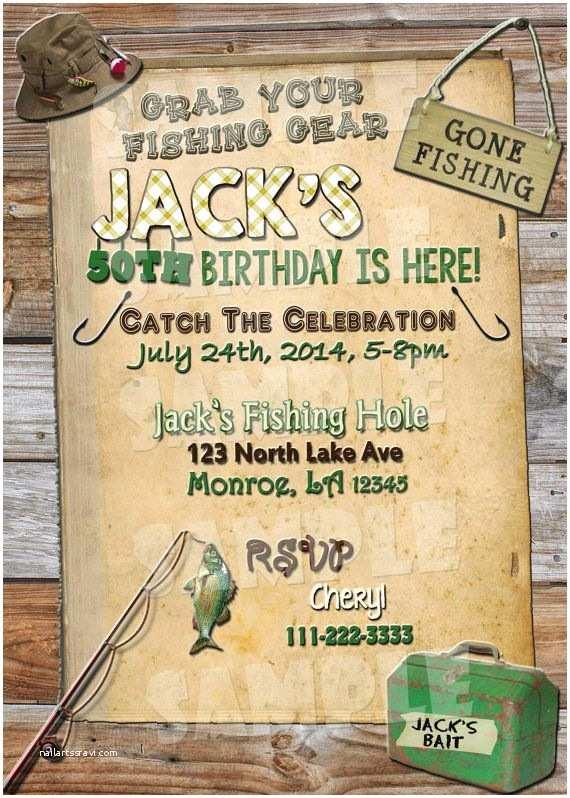 Fishing Party Invitations Printable Fishing Birthday Invitation by
