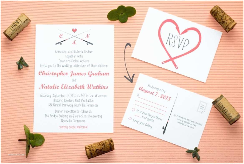 Fishing Wedding Invitations 30 Fishing themed Wedding Ideas You Ll Reel Y Love