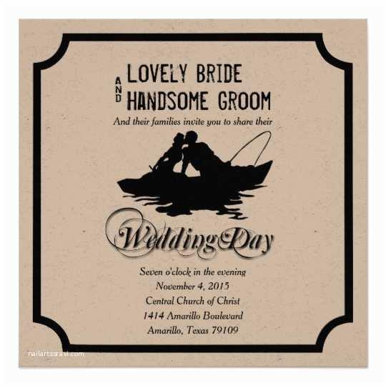 Fishing Wedding Invitations Fishing Lovers Great Catch Wedding Invitation