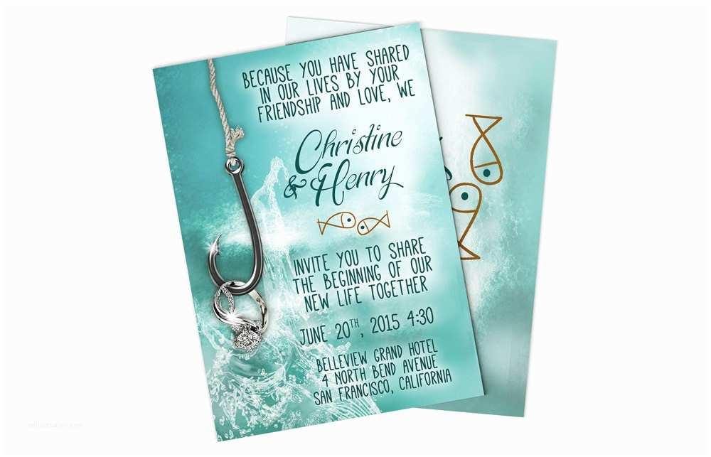 Fishing Wedding Invitations Fishing Wedding Invitations Printable Wedding by