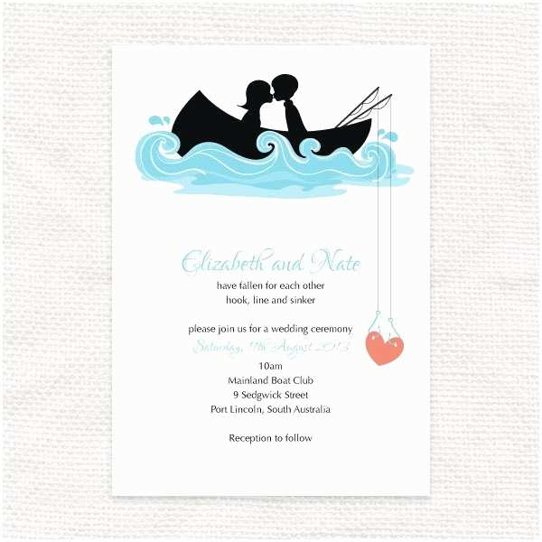 Fishing Wedding Invitations Hooked On You Invitation Printable File Fishing Wedding