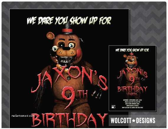 Five Nights at Freddys Birthday Party Invitations Five Nights at Freddy S Invitation Fazzbear Invitation