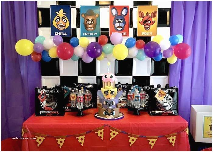 Five Nights at Freddys Birthday Party Invitations Kara S Party Ideas Five Nights at Freddy S Birthday Party