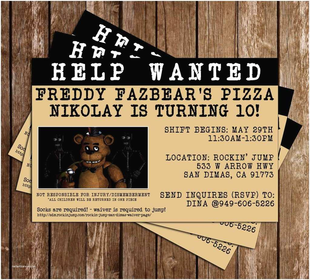 Five Nights at Freddys Birthday Party Invitations Novel Concept Designs Five Nights at Freddy S Video