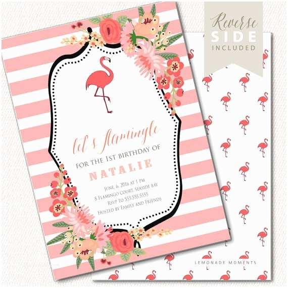 Flamingo Birthday Party Invitations Flamingo Birthday Invitation Flamingo Birthday Party