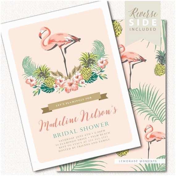 Flamingo Birthday Party Invitations Flamingo Party Invitation ★ Free Shipping for Printed
