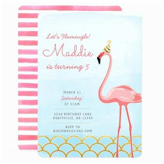 Flamingo Party Invitations Flamingo Birthday Invitation