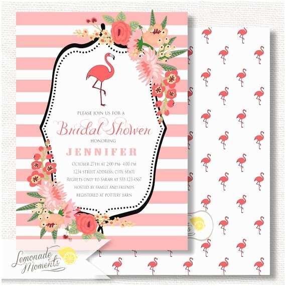 Flamingo Party Invitations Flamingo Party Invitation Bridal Shower by Lemonademoments