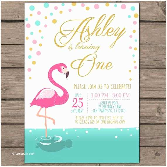 Flamingo Party Invitations Flamingo Party Invitation Flamingo Birthday Invitation