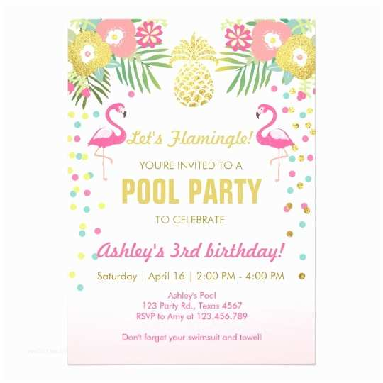 Flamingo Party Invitations Flamingo Pool Party Invitation Tropical