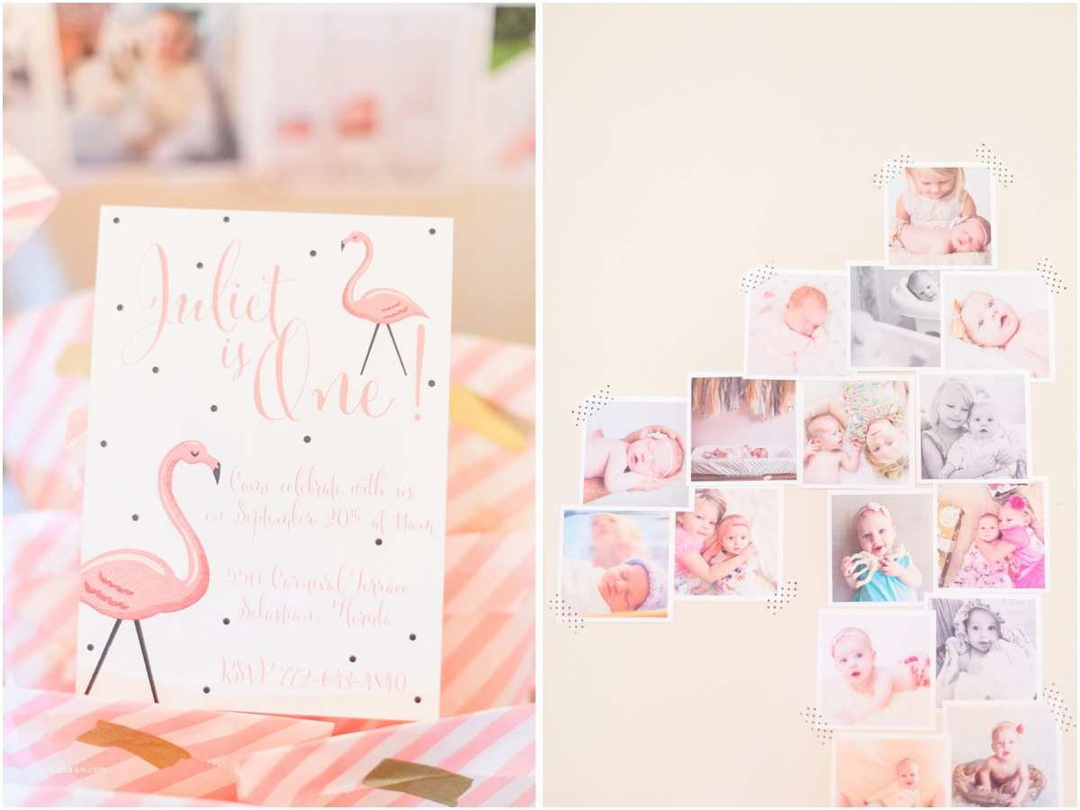 Flamingo Party Invitations Juliet's First Birthday – A Flamingo Party – Cute & Co