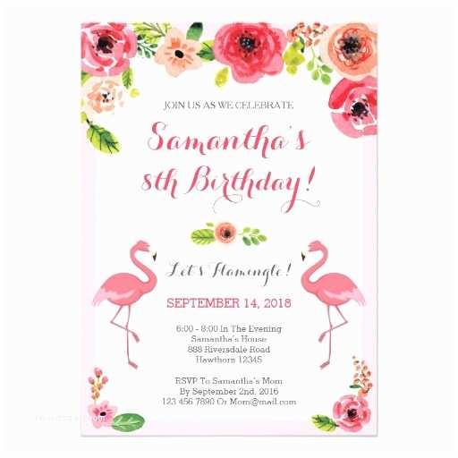 Flamingo Party Invitations Luau Birthday Invitation Flamingo Birthday Invite