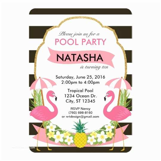 Flamingo Party Invitations Tropical Flamingo Party Invitation 5x7