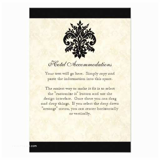 Fleur De Lis Wedding Invitations Black N Cream Fleur De Lis Damask Wedding 3 5x5 Paper
