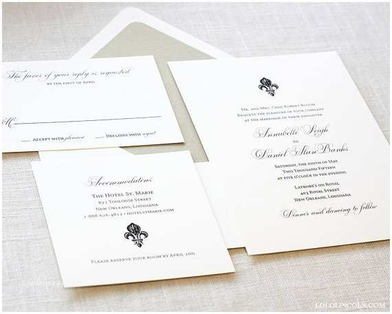 Fleur De Lis Wedding Invitations Fleur De Lis Wedding Invitation New orleans Wedding by