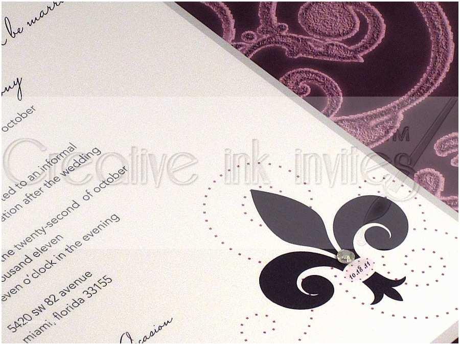 Fleur De Lis Wedding Invitations Fleur De Lis Wedding Invitation