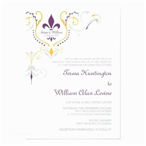Fleur De Lis Wedding Invitations Fleur De Lis Wedding Invitations 5x7