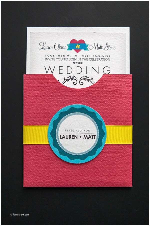 Flip Book Wedding Invitation Cmyk themed Wedding Invites and More On Behance