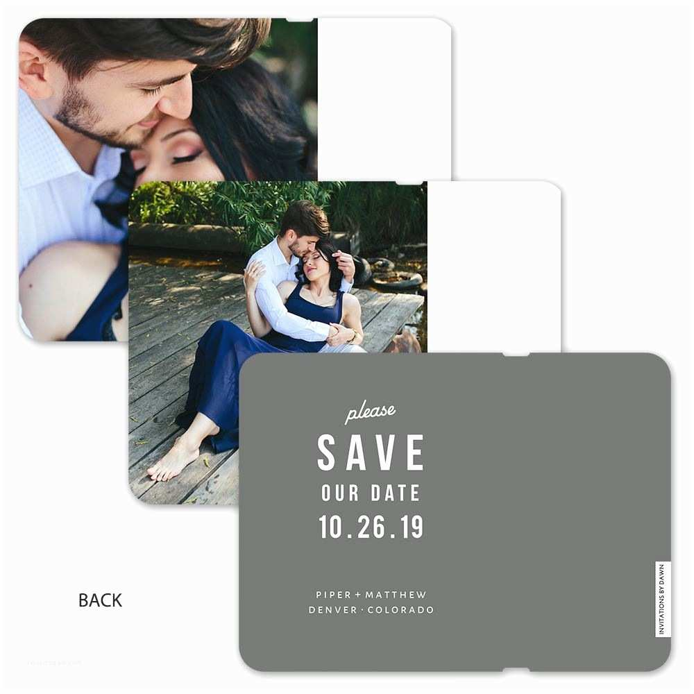 Flip Book Wedding Invitation Date to Remember Save the Date Flip Book