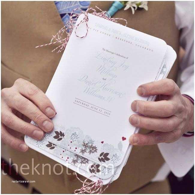 Flip Book Wedding Invitation Flip Book Ceremony Programs