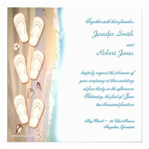 Flip Flop Wedding Invitations Flip Flops On the Beach Wedding Invitation