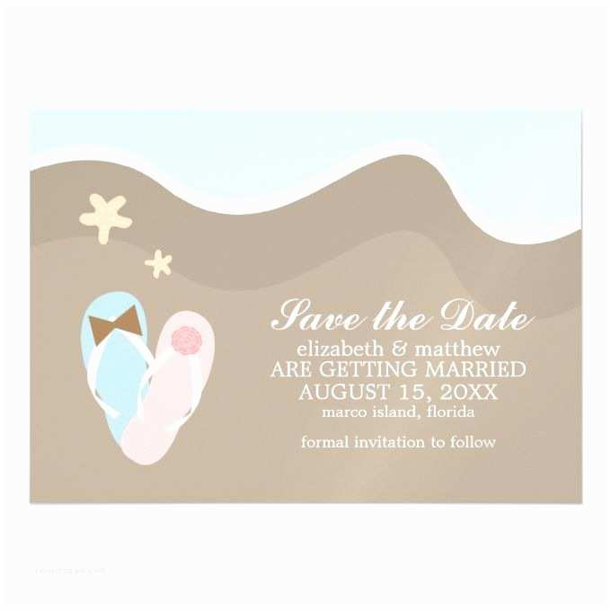 Flip Flop Wedding Invitations His and Hers Flip Flops Wedding Save the Date Magnetic
